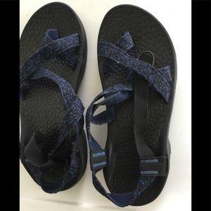 Chaco Mens Vibram Blue / Black Strap San…